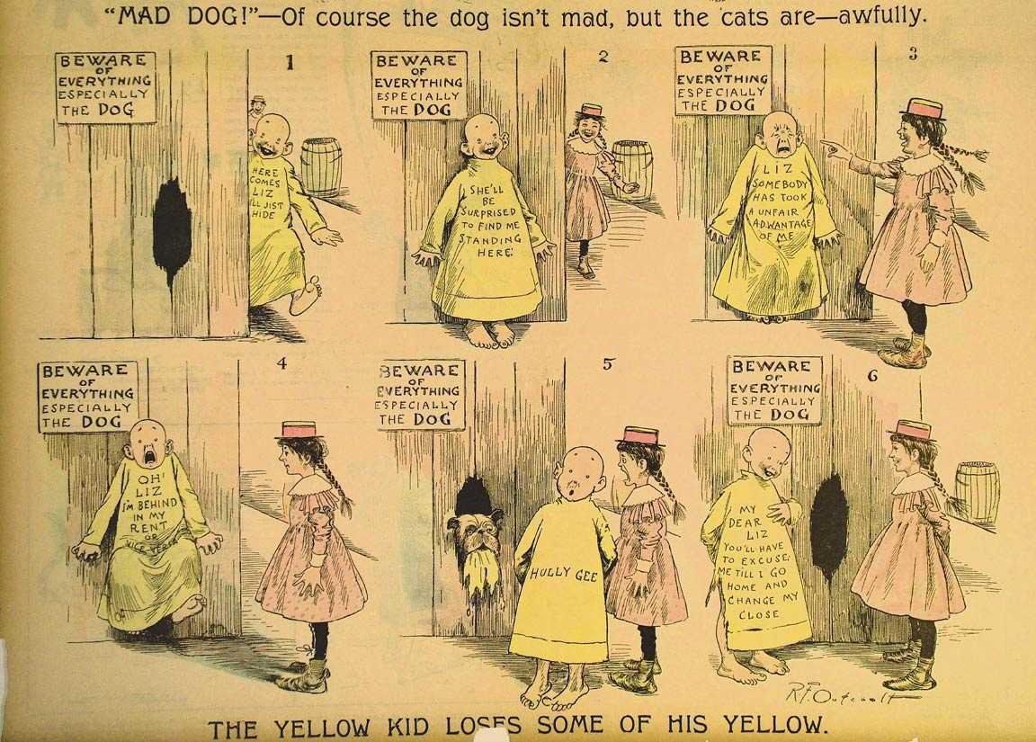 The Yellow Kid (1897 colorido artificialmente). Foto: Reprodução