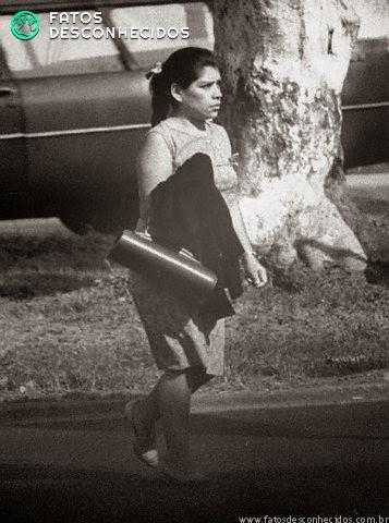 A última foto que se tem registro de Lina Medina (32 anos na época)