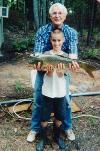 Christopher Pittman and grandfather Joe Pittman ca. 2001