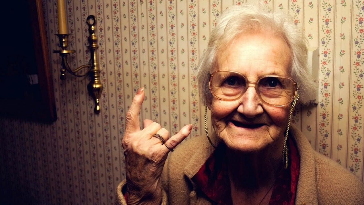 grandma devil horns
