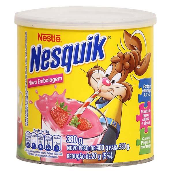 18782 Achocolatado em Pó Nestlé Nesquik Morango Lata 380g
