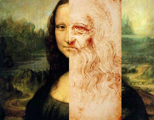Mona Lisa e Da Vinci-vert
