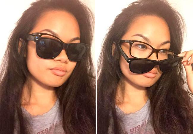 c112e42860a5f Quando você não quer comprar óculos de sol com grau, mas também não quer  enxergar mal com eles