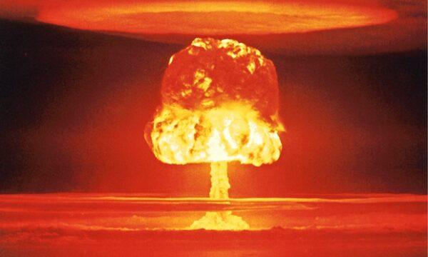 A US nuclear test over Bikini Atoll in1954