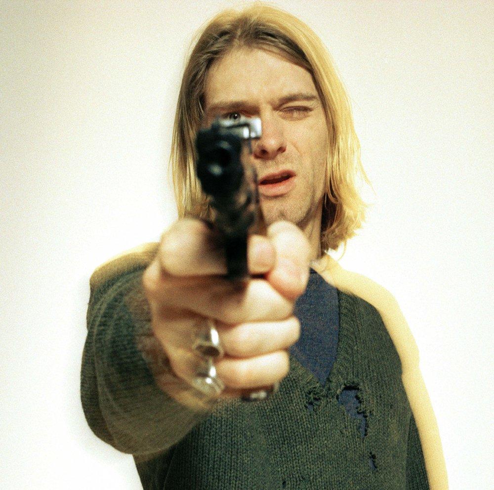 NIRVANA (Kurt Cobain) holding a gun - Revolver1994Credit : Lenquette /DALLEREPORTERS / Dalle