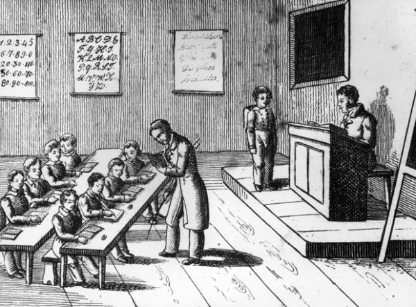 Colonial Development Simple Drawing : Metódos de ensino do passado que fariam os estudantes