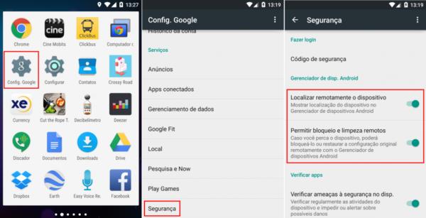 Como achar o celular android pelo google?