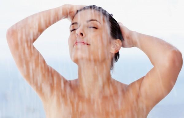 Sexy young female enjoying a bath