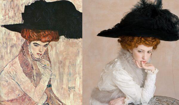 Klimt, Black Feather Hat 1910.jpg