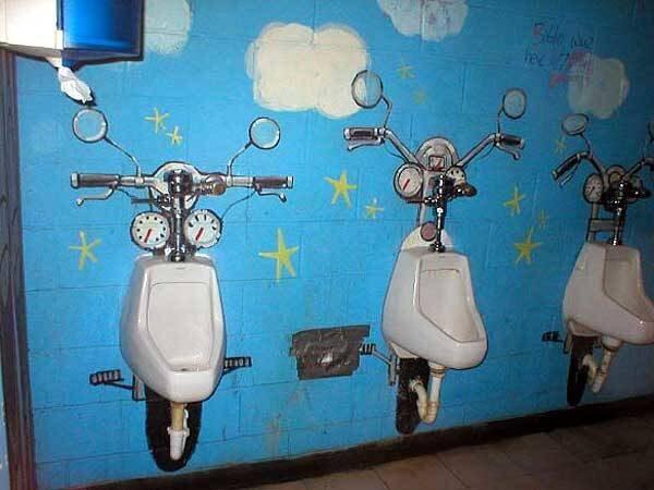 18 banheiros masculinos mais ciriativos do mundo.