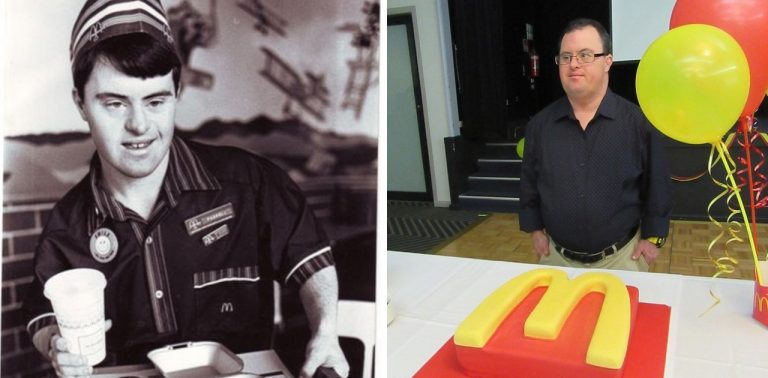 Tem Na Web - Homem com síndrome de down comemora 30 anos na empresa que o acolheu
