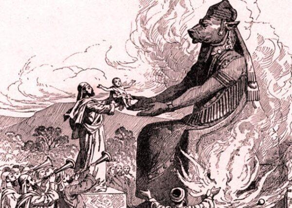 8b child sacrifice to moloch canaan