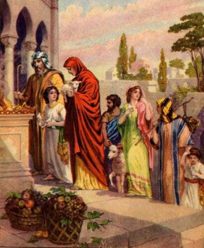 The Israelites offering sacrifices 002