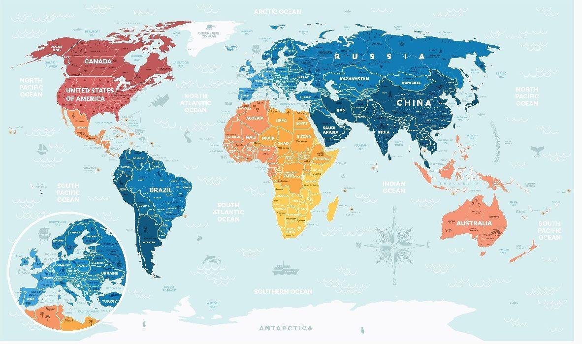 Tem Na Web - Esse mapa mostra qual seria o tamanho dos países de acordo com sua população