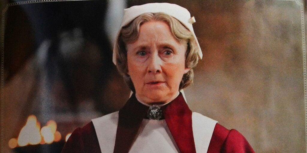Gemma Jones as Poppy Pomfrey in Harry Potter