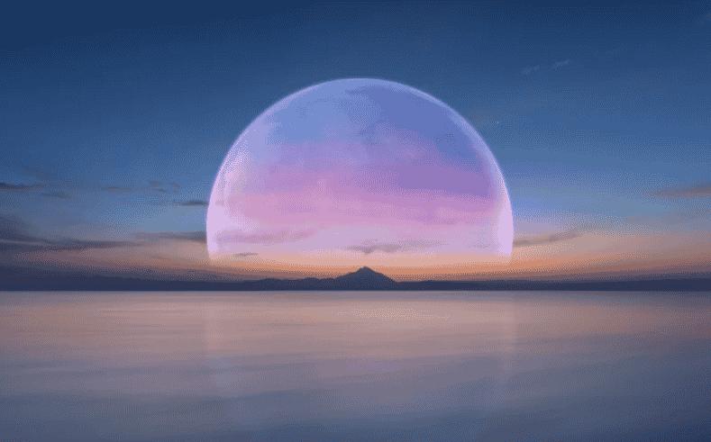 superlua rosa horizonte
